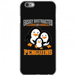easily distracted by penguins t shirt iPhone 6/6s Case | Artistshot
