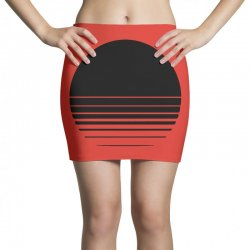 the geometry of sunrise Mini Skirts | Artistshot