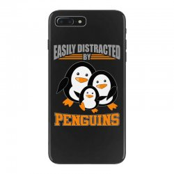 easily distracted by penguins t shirt iPhone 7 Plus Case | Artistshot
