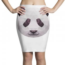 geometric panda bear funny animal t shirts Pencil Skirts | Artistshot
