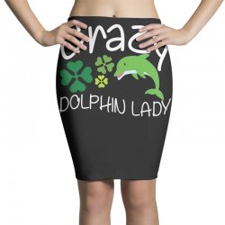 crazy dolphin lady t shirt Pencil Skirts | Artistshot