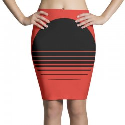 the geometry of sunrise Pencil Skirts | Artistshot