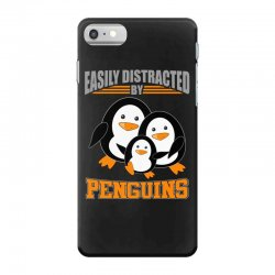 easily distracted by penguins t shirt iPhone 7 Case | Artistshot