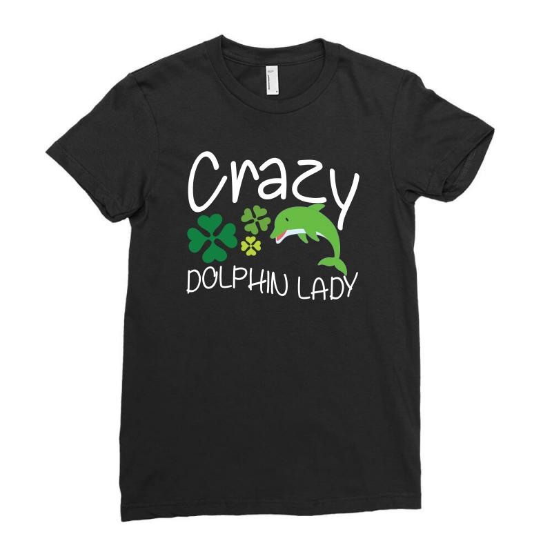 Crazy Dolphin Lady T Shirt Ladies Fitted T-shirt | Artistshot