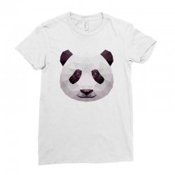 geometric panda bear funny animal t shirts Ladies Fitted T-Shirt | Artistshot
