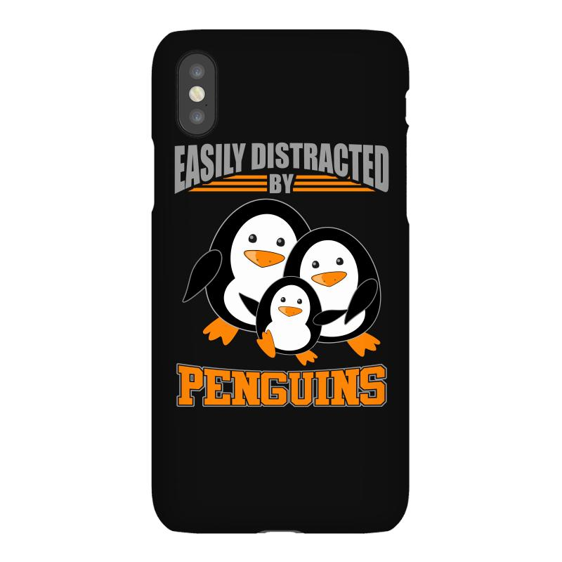 Easily Distracted By Penguins T Shirt Iphonex Case | Artistshot