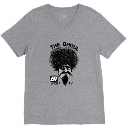 The Ghoul Channel 61 V-neck Tee Designed By Ahmadjufriyanto