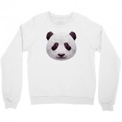 geometric panda bear funny animal t shirts Crewneck Sweatshirt | Artistshot