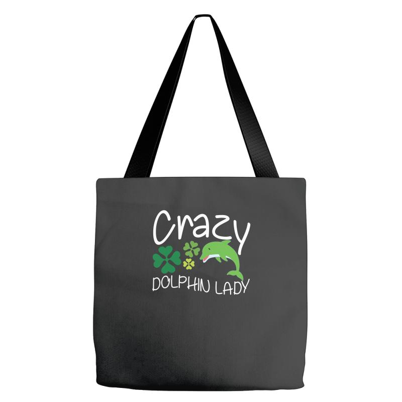 Crazy Dolphin Lady T Shirt Tote Bags | Artistshot