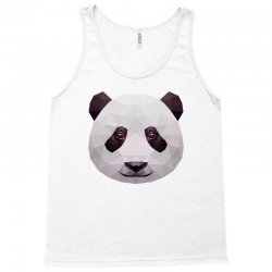 geometric panda bear funny animal t shirts Tank Top | Artistshot