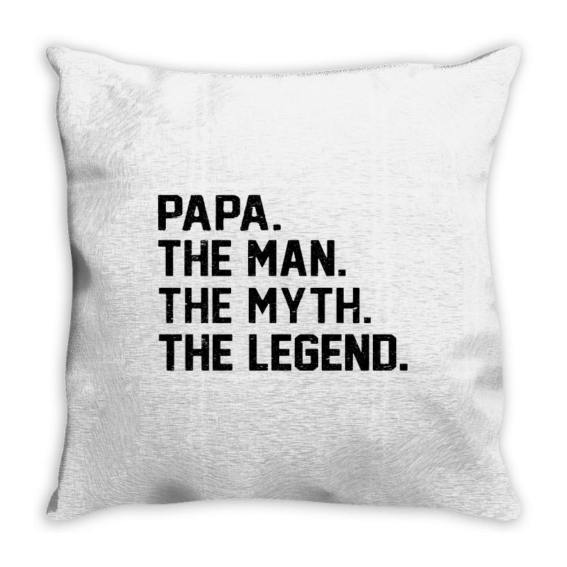 The Man The Myth The Legend Throw Pillow | Artistshot