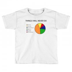 things i will never do   pie chart Toddler T-shirt | Artistshot