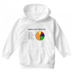 things i will never do   pie chart Youth Hoodie | Artistshot
