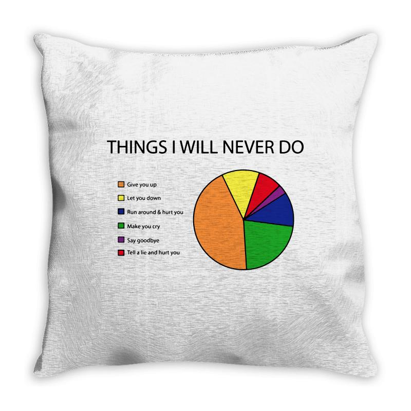 Things I Will Never Do   Pie Chart Throw Pillow | Artistshot