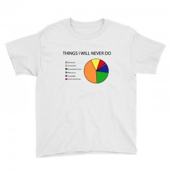 things i will never do   pie chart Youth Tee | Artistshot