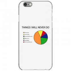 things i will never do   pie chart iPhone 6/6s Case | Artistshot