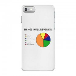 things i will never do   pie chart iPhone 7 Case | Artistshot