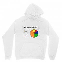 things i will never do   pie chart Unisex Hoodie | Artistshot