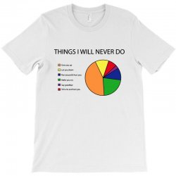 things i will never do   pie chart T-Shirt | Artistshot