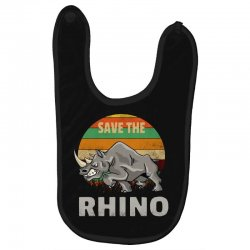 save the rhino rhinoceros    chubby unicorns Baby Bibs | Artistshot