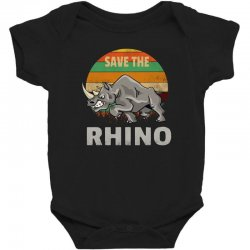 save the rhino rhinoceros    chubby unicorns Baby Bodysuit | Artistshot