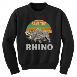save the rhino rhinoceros    chubby unicorns Youth Sweatshirt | Artistshot