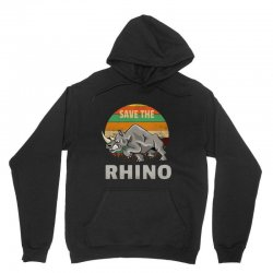 save the rhino rhinoceros    chubby unicorns Unisex Hoodie | Artistshot