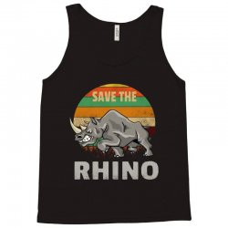 save the rhino rhinoceros    chubby unicorns Tank Top | Artistshot