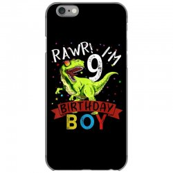 9 years old 9th birthday dinosaur boy daughter iPhone 6/6s Case | Artistshot