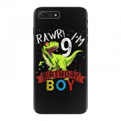 9 years old 9th birthday dinosaur boy daughter iPhone 7 Plus Case | Artistshot