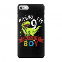 9 years old 9th birthday dinosaur boy daughter iPhone 7 Case | Artistshot