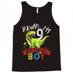 9 years old 9th birthday dinosaur boy daughter Tank Top | Artistshot