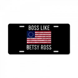 abetsy ross shirt 4th of july american pride flag License Plate | Artistshot