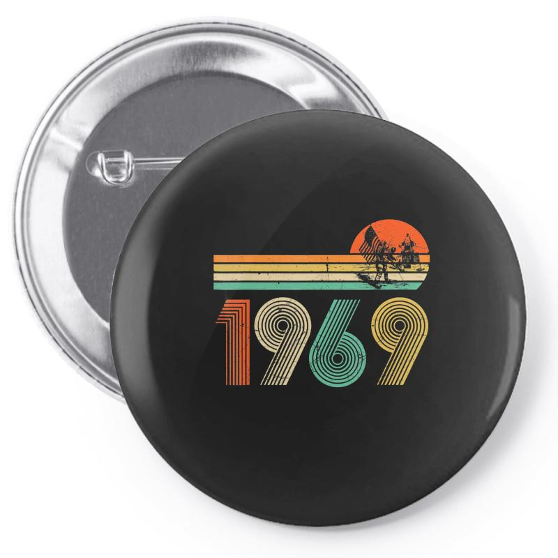 Apollo 11 50th Anniversary Moon Landing 1969   2019 Vintage Pin-back Button | Artistshot