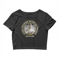 apollo 11 50th anniversary moon landing Crop Top | Artistshot