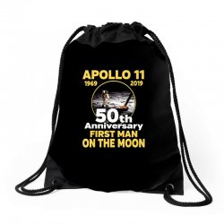 apollo 11 50th anniversary Drawstring Bags | Artistshot