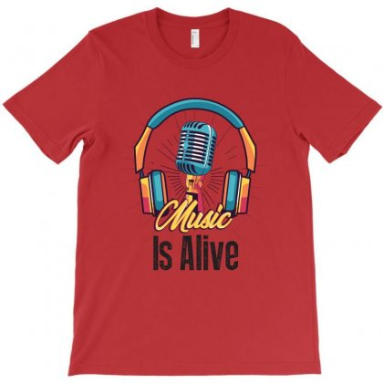 Music Is My Life T-shirt Designed By Rardesign