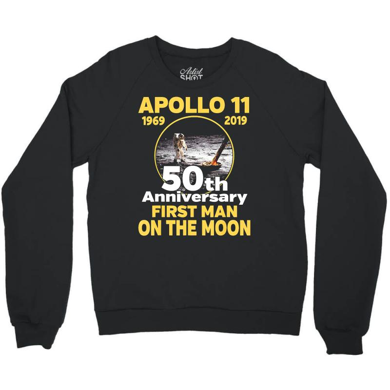 Apollo 11 50th Anniversary Crewneck Sweatshirt | Artistshot