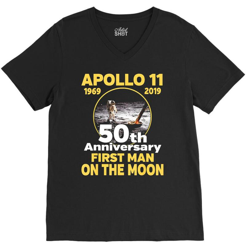 Apollo 11 50th Anniversary V-neck Tee | Artistshot