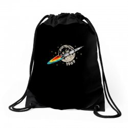 apollo 11 50th anniversary moon Drawstring Bags | Artistshot