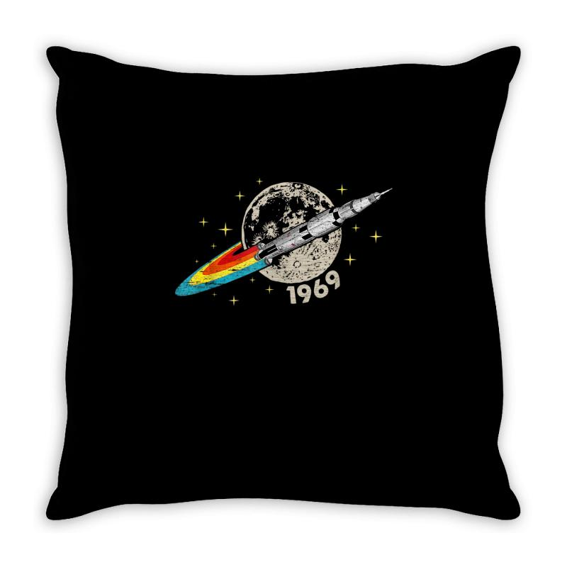 Apollo 11 50th Anniversary Moon Throw Pillow | Artistshot