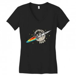 apollo 11 50th anniversary moon Women's V-Neck T-Shirt | Artistshot