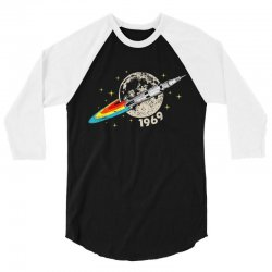 apollo 11 50th anniversary moon 3/4 Sleeve Shirt | Artistshot