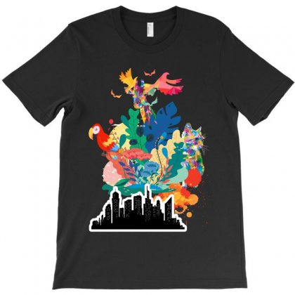 Colourful T-shirt Designed By Rardesign