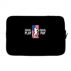 equal pay for equal play, usa flag, women's soccer Laptop sleeve | Artistshot