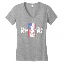 equal pay for equal play, usa flag, women's soccer Women's V-Neck T-Shirt | Artistshot