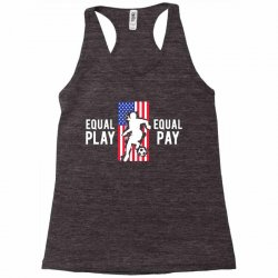 equal pay for equal play, usa flag, women's soccer Racerback Tank | Artistshot