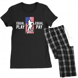 equal pay for equal play, usa flag, women's soccer Women's Pajamas Set | Artistshot