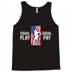 equal pay for equal play, usa flag, women's soccer Tank Top | Artistshot