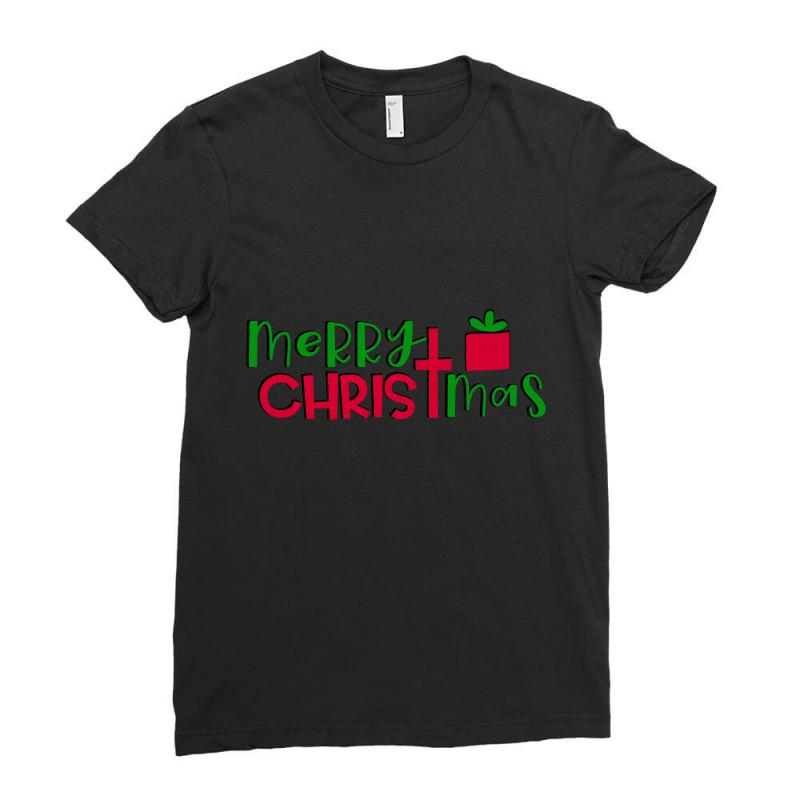 Merry Christmas Ladies Fitted T-shirt | Artistshot